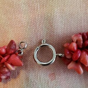 Jewelry - Vintage Red Coral Chips Necklace/ Ocean/ Sea/